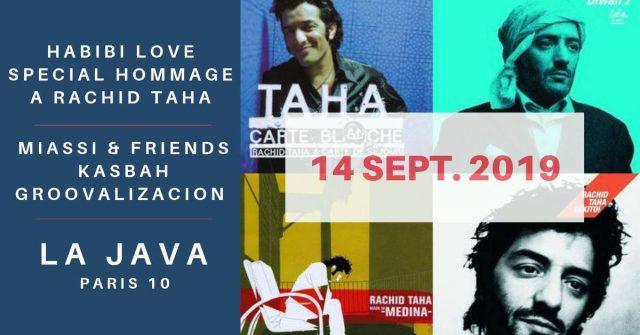 Affiche du concert «Hommage Rachid TAHA »
